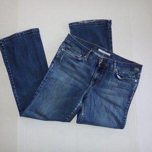 Joe's Jeans Size 32 Dark Distressed Bootcut Jolie